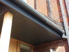 UPVC colour coated tongue and groove soffit