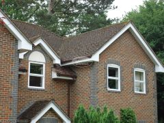 White upvc fascia soffit guttering replacement in Beaconsfield