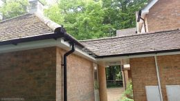 We fully replaced all the guttering, fascias and soffits to the entire property including the large garage and enclosed walk way