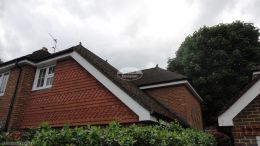 Installation Of New White Upvc Fascias Soffits And Black Guttering On A Detached House in Penn High Wycombe