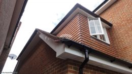 Installation Of New White Upvc Fascias Soffits And Guttering On A Detached Property in High Wycombe
