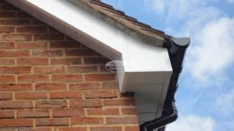New Upvc fascia boards soffits black guttering High Wycombe