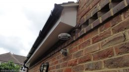 Recent Full Installtion Of White Upvc fascias soffits and guttering side view Penn High Wycombe