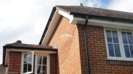 Recent Installation of upvc white fascias soffits with black guttering Penn High Wycombe