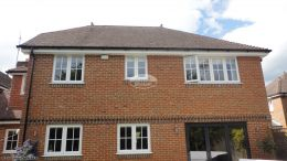Replacement White fascias soffits guttering at rear of property High Wycombe