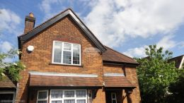 Replacement black ash soffits fascia boards and guttering in High Wycombe