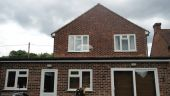 Replacement fascias soffits guttering at rear of property