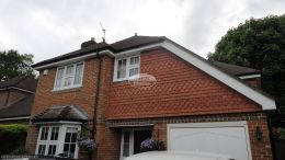 Replacement white soffits fascia boards and guttering in Penn High Wycombe