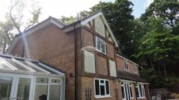 New UPVC bargeboards, fascias, soffits and guttering on a mock Tudor property in High Wycombe
