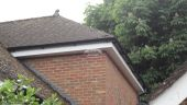 Replacing white fascias soffits and black guttering at back of detached house Penn High Wycombe