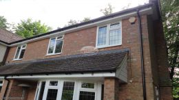 Complete replacement of fascias, soffits and guttering to the lower level