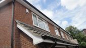 Fascias soffits guttering replacement white ogee boards black half round guttering Hazlemere High Wycombe