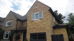 Full replacement fascias soffits and guttering with anthracite grey UPVC in Maidenhead High Wycombe
