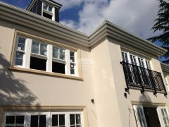Installation of bespoke fascias and soffits on a new build home