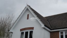UPVC bargeboards with GRP roof spire