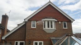 Replacement fascias, soffits and guttering to a deatched property in Penn, High Wycombe