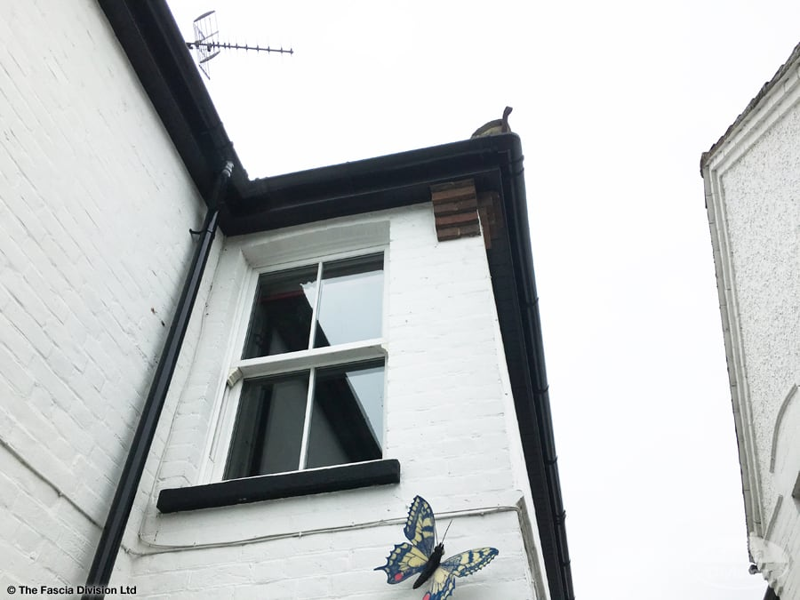 Black UPVC guttering and soffit